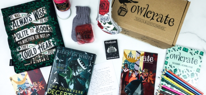 OwlCrate December 2019 Subscription Box Review + Coupon
