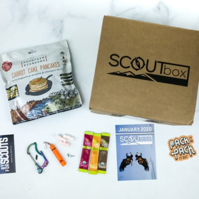 SCOUTbox January 2020 Subscription Box Review + Coupon