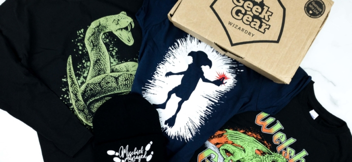 Geek Gear World of Wizardry Wearables December 2019 Subscription Box Review & Coupon