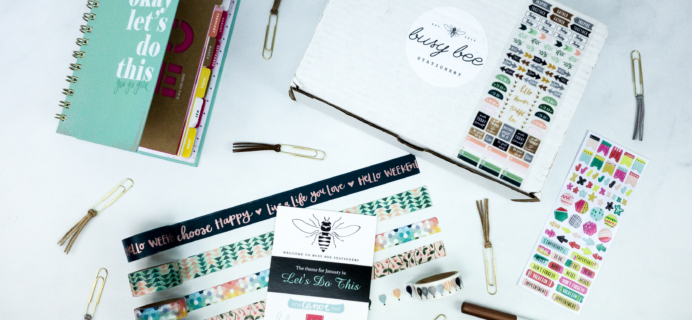 Busy Bee Stationery January 2020 Subscription Box Review