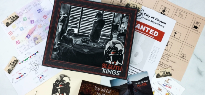 Sleuth Kings Subscription Box Review + Coupons – Case 026 SPARKY