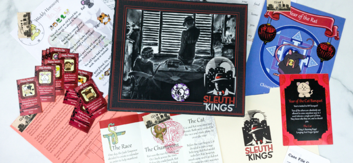 Sleuth Kings Subscription Box Review + Coupons – Case 028 YEAR OF THE CAT