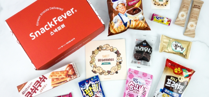Snack Fever January 2020 Subscription Box Review + Coupon – Original Box!