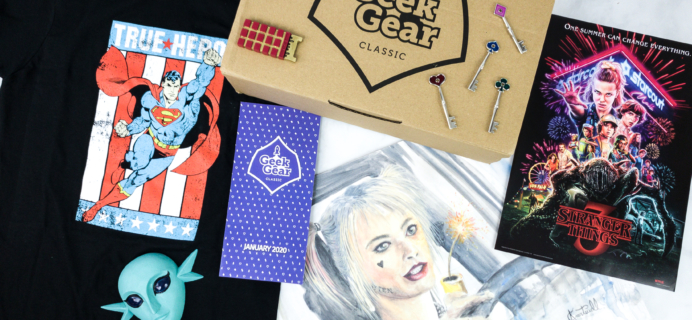 Geek Gear Box January 2020 Subscription Box Review + Coupon