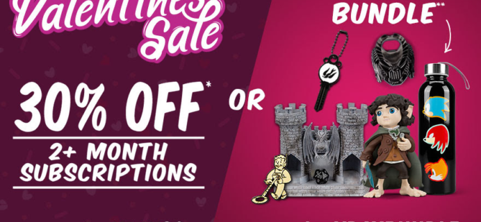 Loot Crate Valentine's Day Sale: 30% Off Nearly ALL Crates & More!