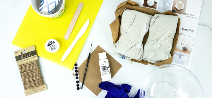 Adults & Crafts Subscription Box Review + Coupon – CEMENT CRAFT KIT
