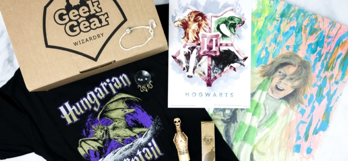 Geek Gear World of Wizardry January 2020 Subscription Box Review & Coupon