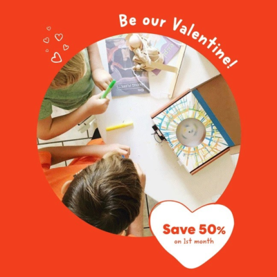 KiwiCo Valentine's Day Flash Sale: 50% Off First Box!