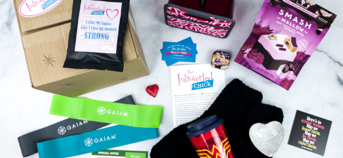 The Introverted Chick February 2020 Subscription Box Review + Coupon