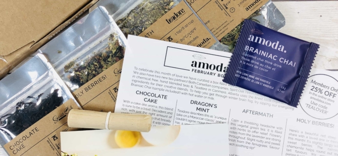 Amoda Tea February 2020 Subscription Box Review + Coupon!