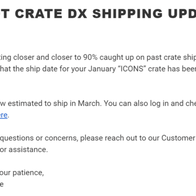January 2020 Loot Crate DX Shipping Update