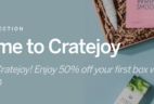 Cratejoy 50% Off Sale – Take HALF OFF First Box in Select Subscriptions!