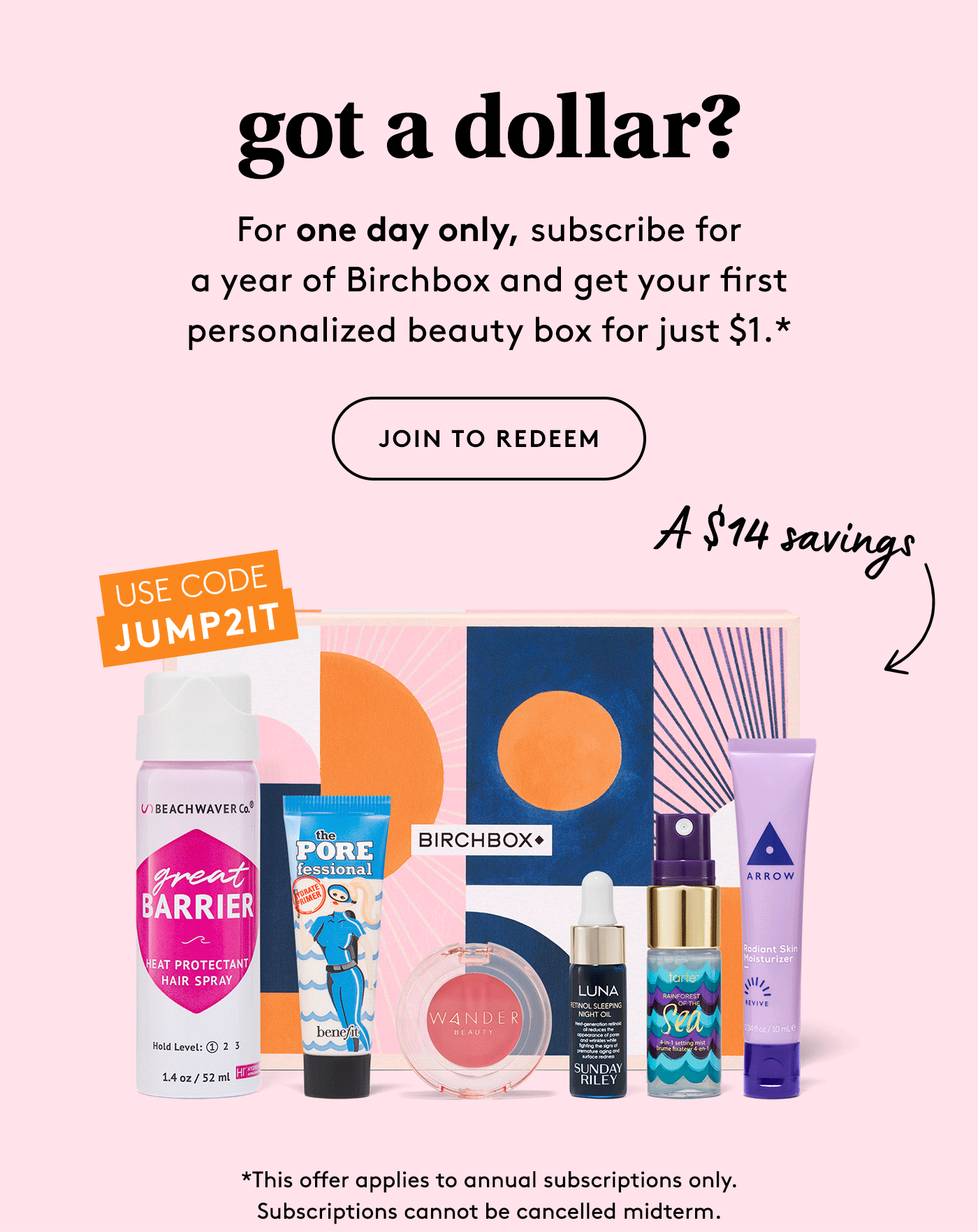 Birchbox Leap Day Sale: First Box $1 with Annual Subscription!