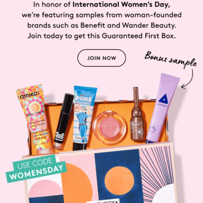 Birchbox International Women's Day Coupon: Start Your First Box With Custom Box + $5 Off!
