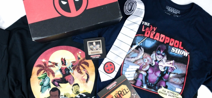 Deadpool Club Merc Fall 2019 Subscription Box Review + Coupon