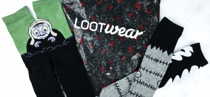 Loot Socks by Loot Crate October 2019 Subscription Box Review & Coupon