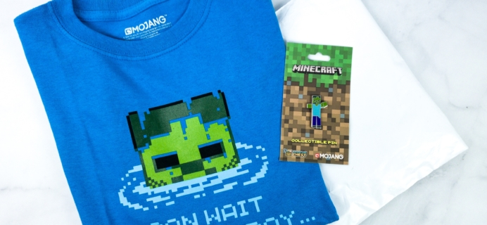 Minecraft T-Shirt Club March 2020 Subscription Box Review + Coupon!