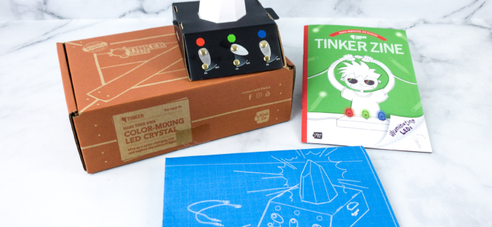 KiwiCo Tinker Crate Review & Coupon – LED CRYSTAL