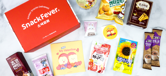 Snack Fever February 2020 Subscription Box Review + Coupon – Original Box!