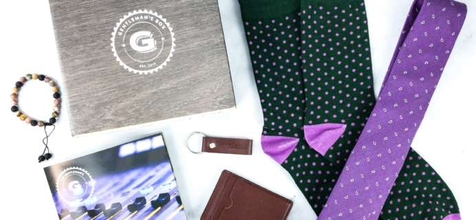 The Gentleman's Box March 2020 Subscription Box Review + Coupon