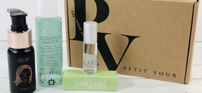 Petit Vour March 2020 Subscription Box Review & Coupon