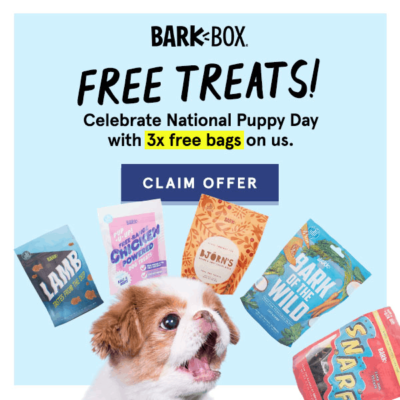BarkBox National Puppy Day Coupon: FREE Treats With 6+ Month Subscriptions!