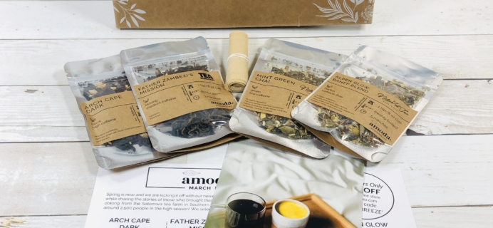 Amoda Tea March 2020 Subscription Box Review + Coupon!