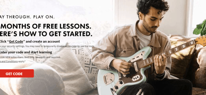 Fender Play Sale: 3 Months FREE Trial!
