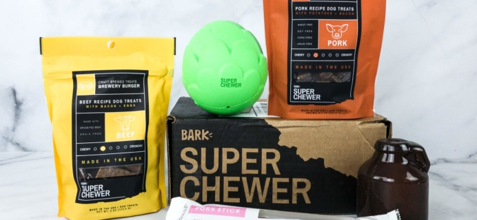 Super Chewer March 2020 Subscription Box Review + Coupon!