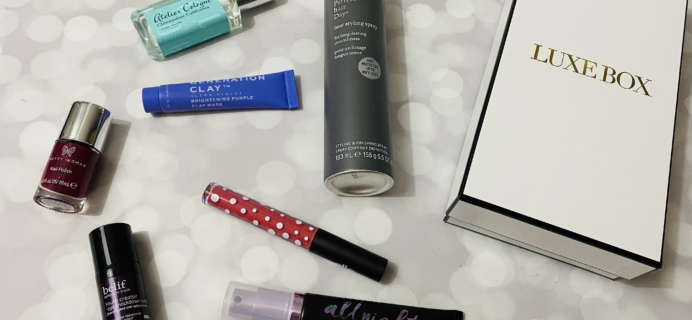 Luxe Box Spring 2020 Subscription Box Review
