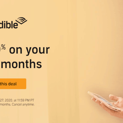 Audible Deal: Save 40% On Your FIRST 3 Months!