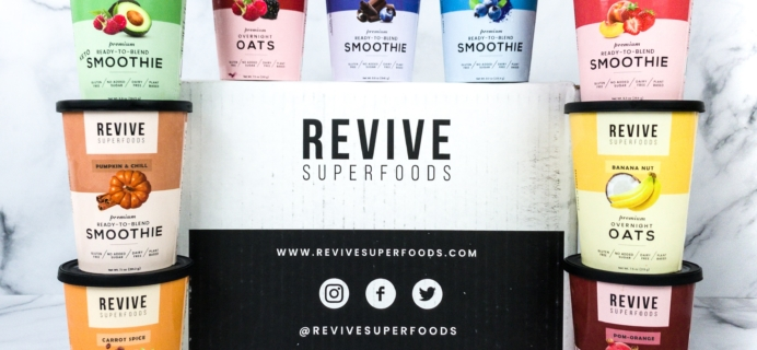 Revive Superfoods Review + Coupon – SMOOTHIES & OAT BOWLS