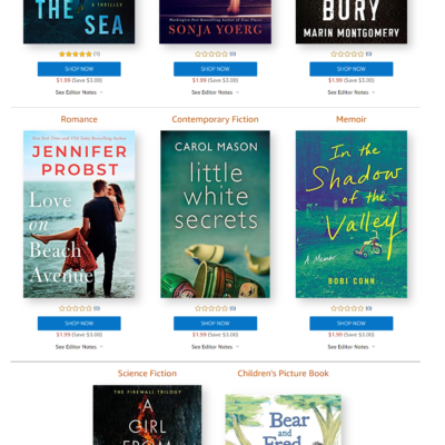 Amazon First ReadsApril 2020 Selections: 1 Book FREE for Amazon Prime Members