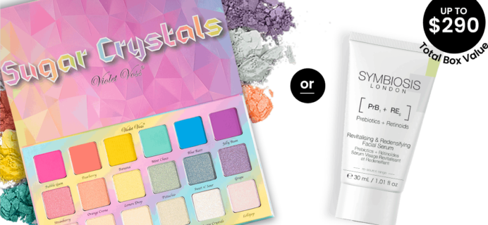 BOXYCHARM Coupon: FREE Violet Voss Palette OR Symbiosis London Facial Serumwith April 2020 Box!