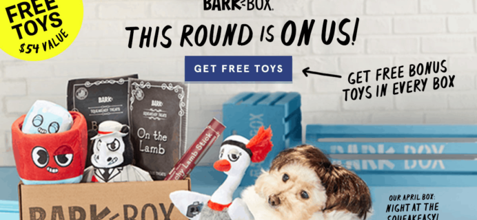 BarkBox Coupon: FREE Extra Toy In Every Box!