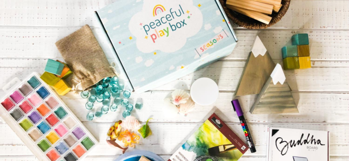Peaceful Play Box – Review? Kid Arts & Crafts Subscription!