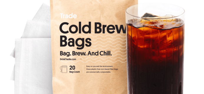 Trade Coffee Cold Brew Available Now + FREE Cold Brew Bags + 30% OFF Coupon!