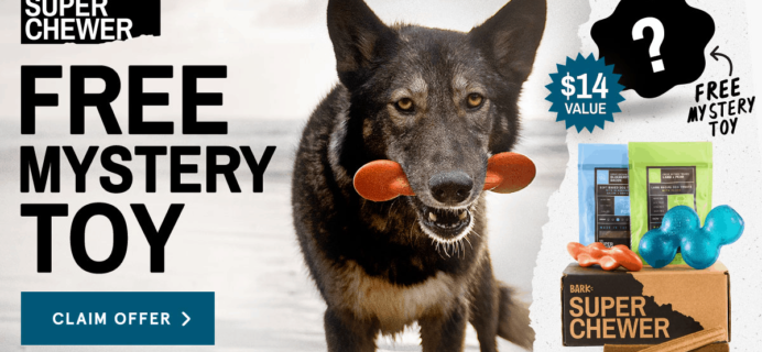 BarkBox Super Chewer Coupon: Get FREE Bonus Toy With Subscription!