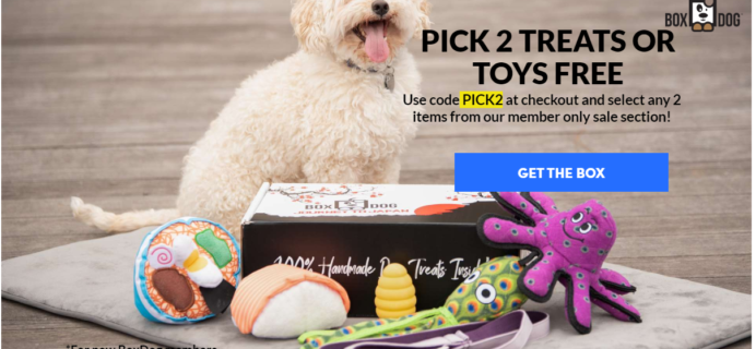 BoxDog Coupon: Get 2 FREE Toys OR Treats!