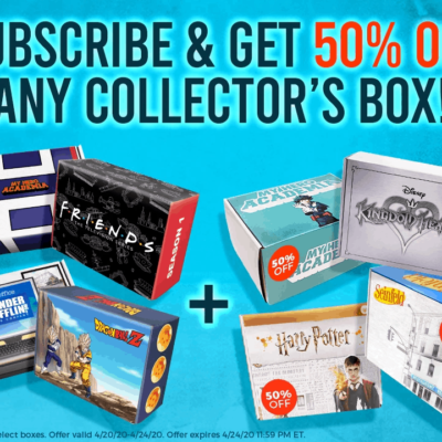 Culturefly Flash Sale: Save 50% On A Collector's Box When You Subscribe!
