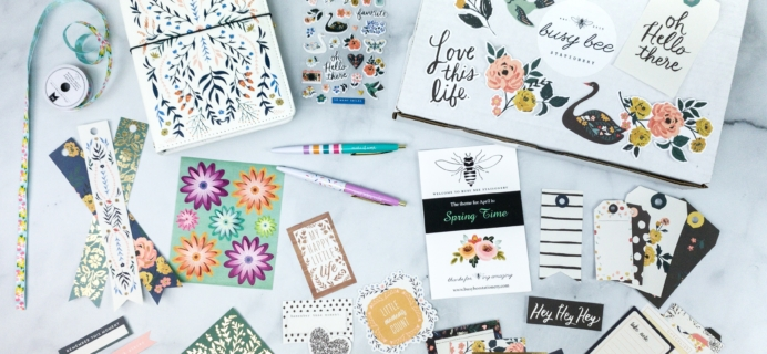 Busy Bee Stationery April 2020 Subscription Box Review