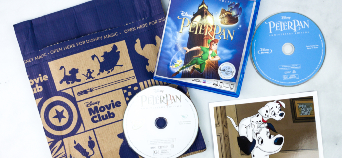 Disney Movie Club April 2020 PETER PAN Review + Coupon