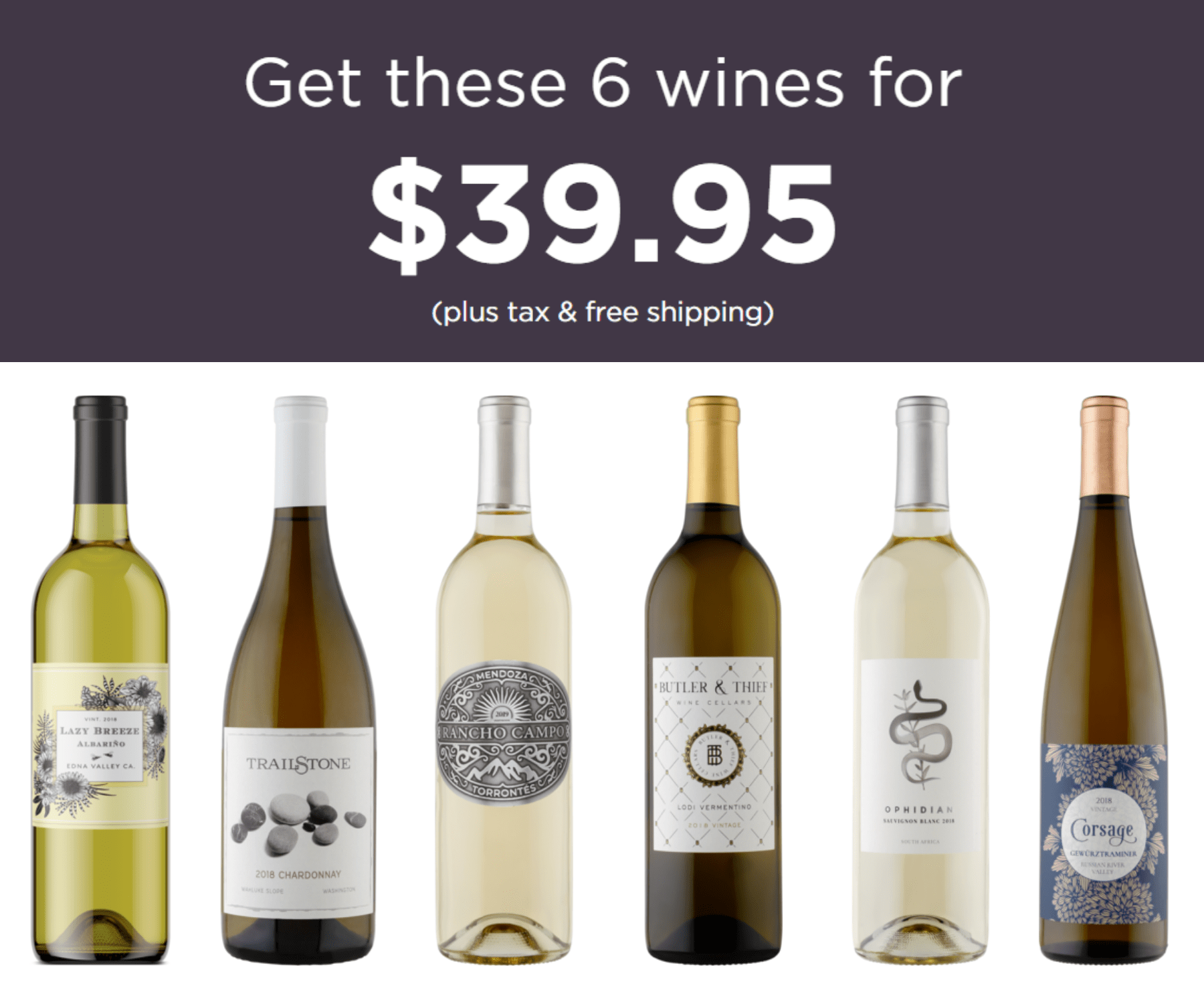 Firstleaf Wine Club Coupon: Get New World White Wine Bundle For Just $39.95 + FREE Shipping!