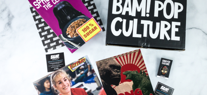 The BAM! POP CULTURE BOX March 2020 Subscription Box Review
