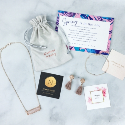 Glamour Jewelry Box April 2020 Subscription Box Review + Coupon