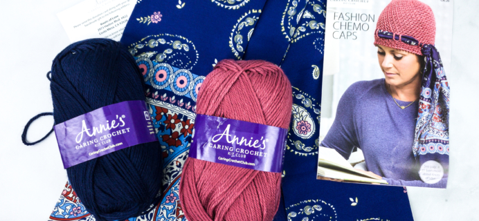 Annie's Caring Crochet Kit Club Unboxing Review + Coupon – FASHION CHEMO CAPS