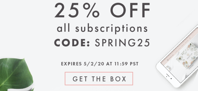 Bombay & Cedar  Flash Sale: Get 25% Off ALL Subscriptions – Lifestyle & Beauty!