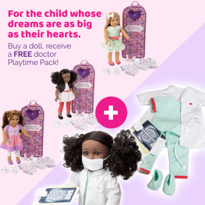 Club Eimmie Coupon: FREE Doctor Playtime Pack With Doll Purchase!