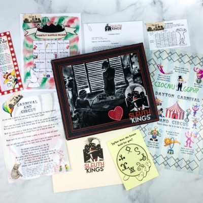 Sleuth Kings Subscription Box Review + Coupons – Case 032 TWO RING CIRCUS