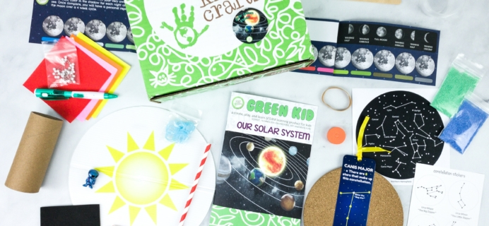 Green Kid Crafts OUR SOLAR SYSTEM Subscription Box Review + 50% Off Coupon!